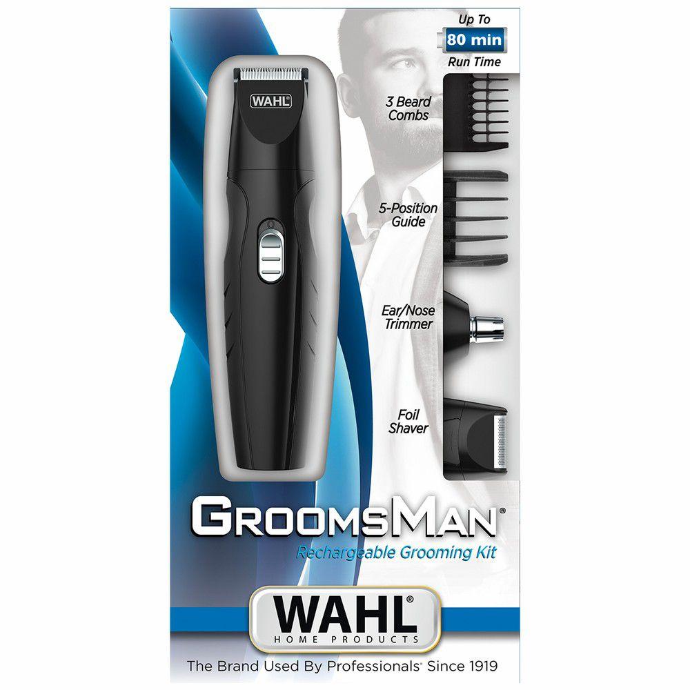 Aparador de Pelos Wahl Groomsman Rechargeable, 3 em 1, Recarregável - Bivolt