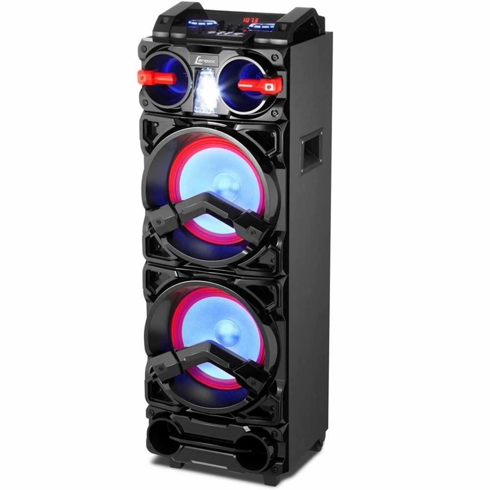 Caixa Amplificada Lenoxx, Display Digital, Fm, Bluetooth, Usb, Auxiliar, Cartão Sd, Led Light, Karaoke, 1000W rms