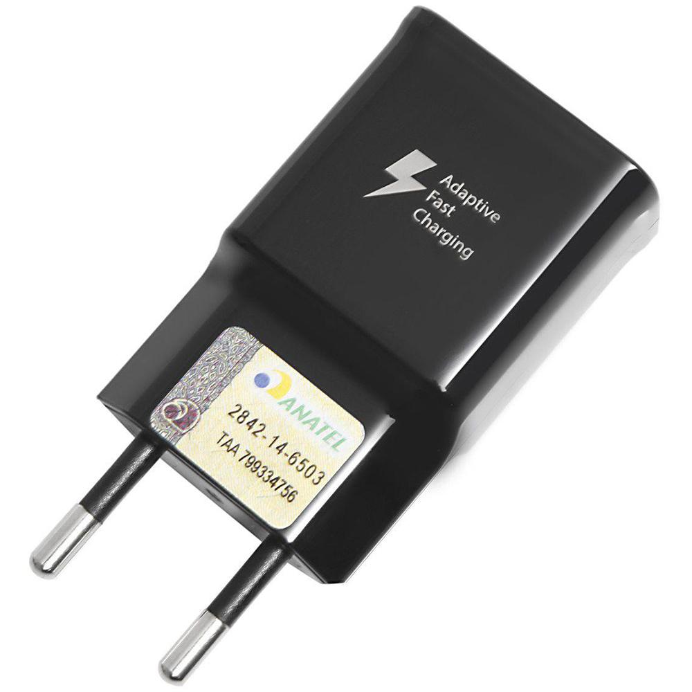 Carregador de Viagem Carga Rápida Entrada USB-C - com Cabo USB-C 1m Samsung - Original - Preto