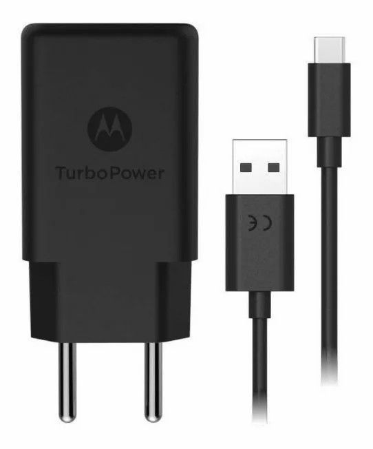 Carregador Original Motorola Turbo Power Qc3.0 Tipo-c - Carrega Rápido - Preto
