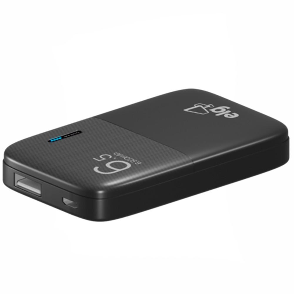 Carregador Portátil Power Bank PB65 ELG com Cabo Micro USB - Preto