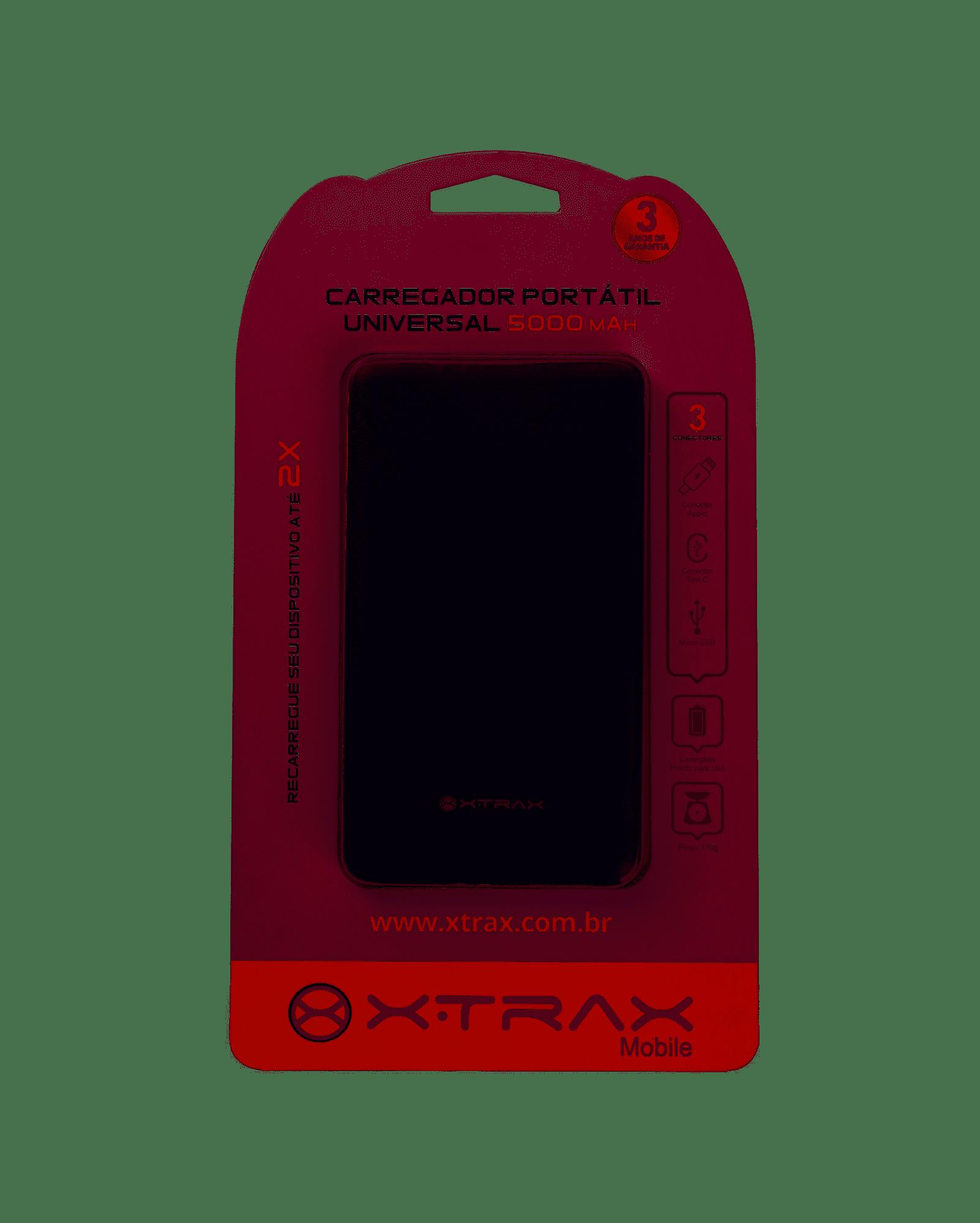 Carregador Portátil Universal Xtrax 5000 Mah Preto