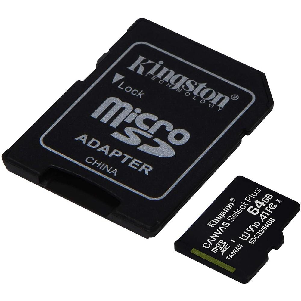 Cartão De Memória 64GB Canvas Select Plus ComAdaptador SD Class 10 -Sdcs2