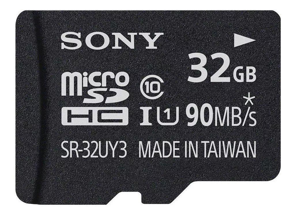 Cartão De Memória  Sony 32gb Classe10 Com Adaptador 90mb/s