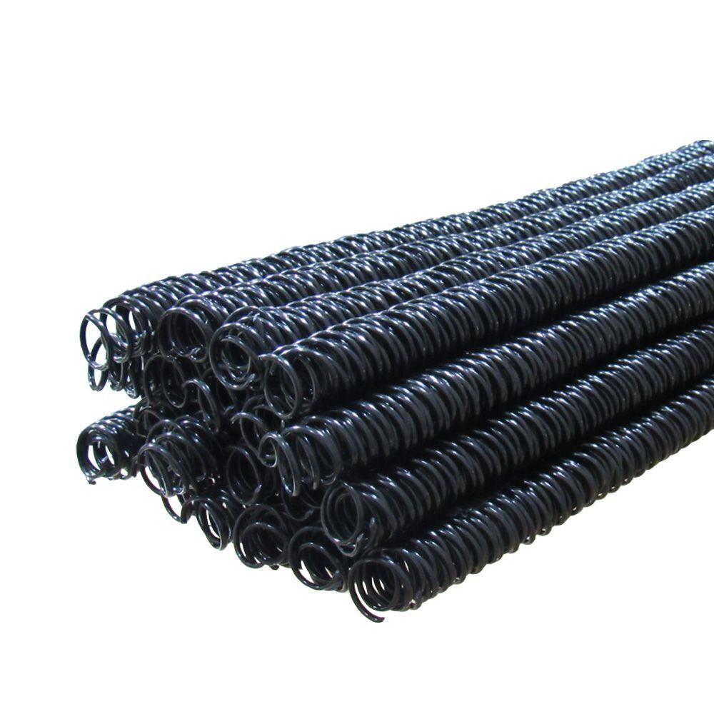 Espiral Para Encadernação Tamanho Ofício e A4 07mm P/25 Folhas Pacote Com 100 Unidades - Preto