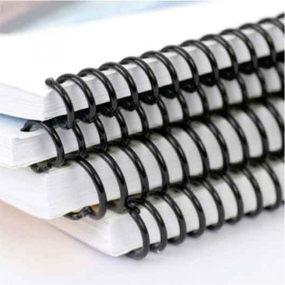 Espiral Para Encadernação Tamanho Ofício e A4 17mm P/100 Folhas Pacote Com 100 Unidades - Preto