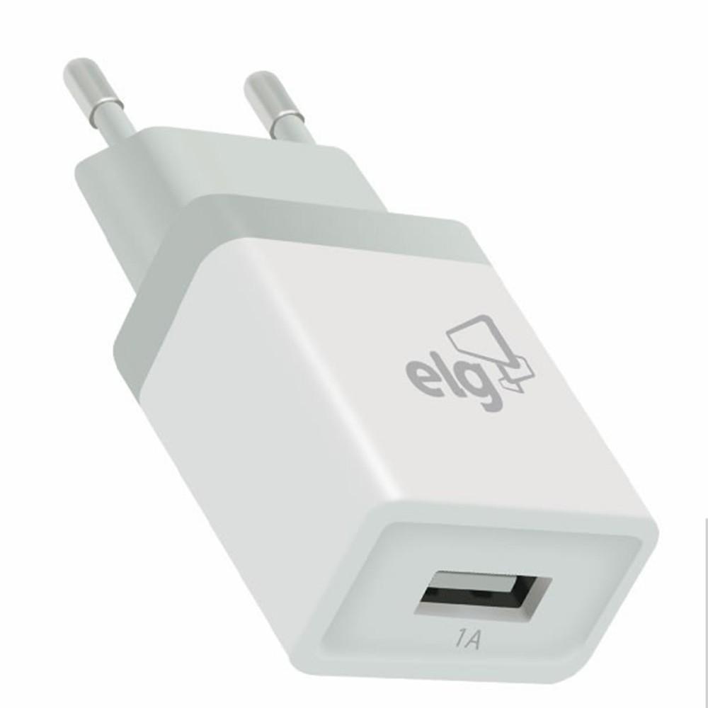 Kit Carregador Parede Universal 1 Saída USB Elg KT810WC - Branco