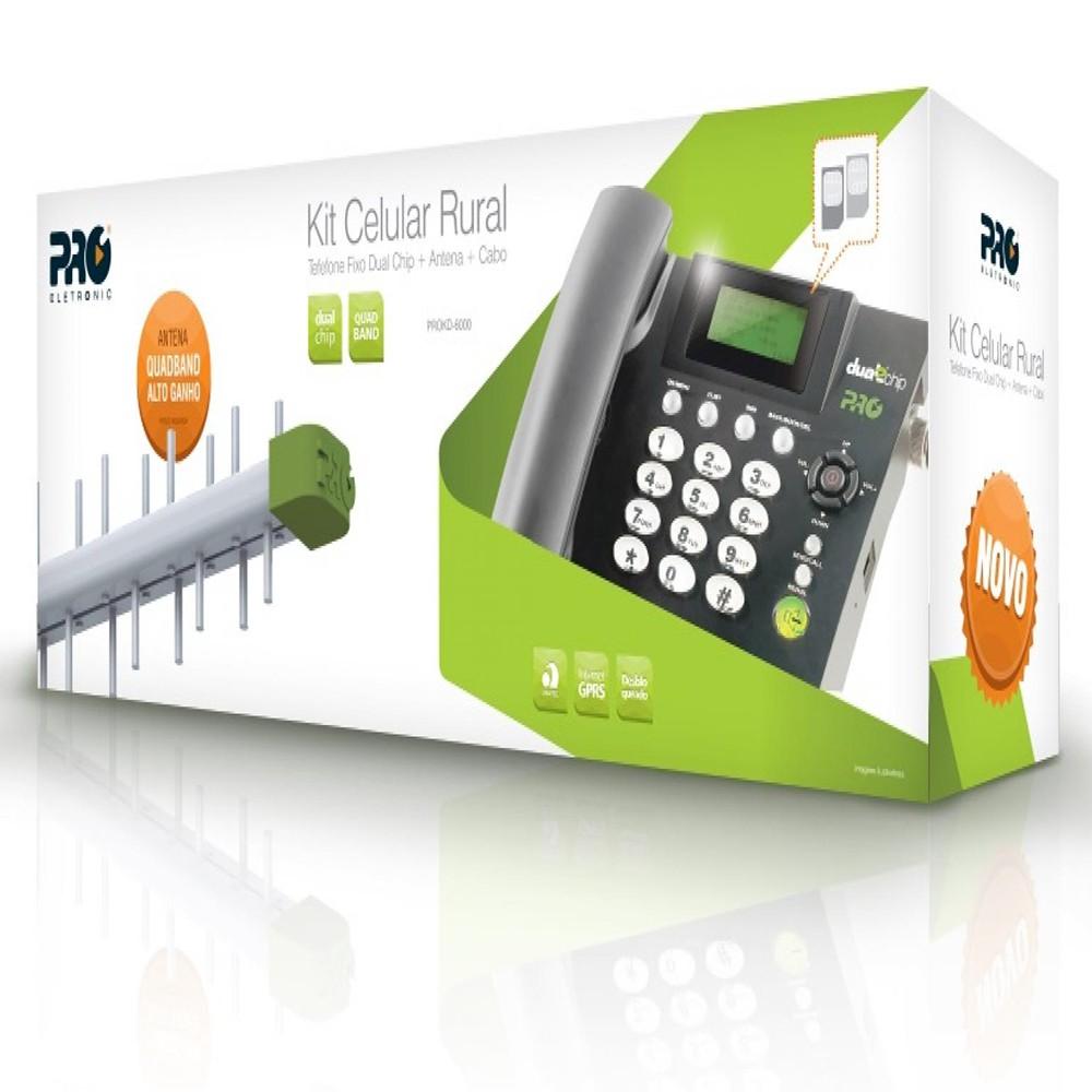 Kit Telefone Celular Fixo PROKD-6000 Preto PROELETRONIC