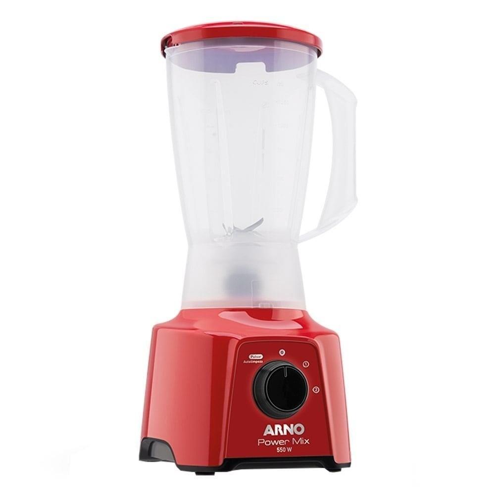 Liquidificador Arno Power Mix LQ11 Copo de Plástico 2 Velocidades + Pulsar 550W Vermelho