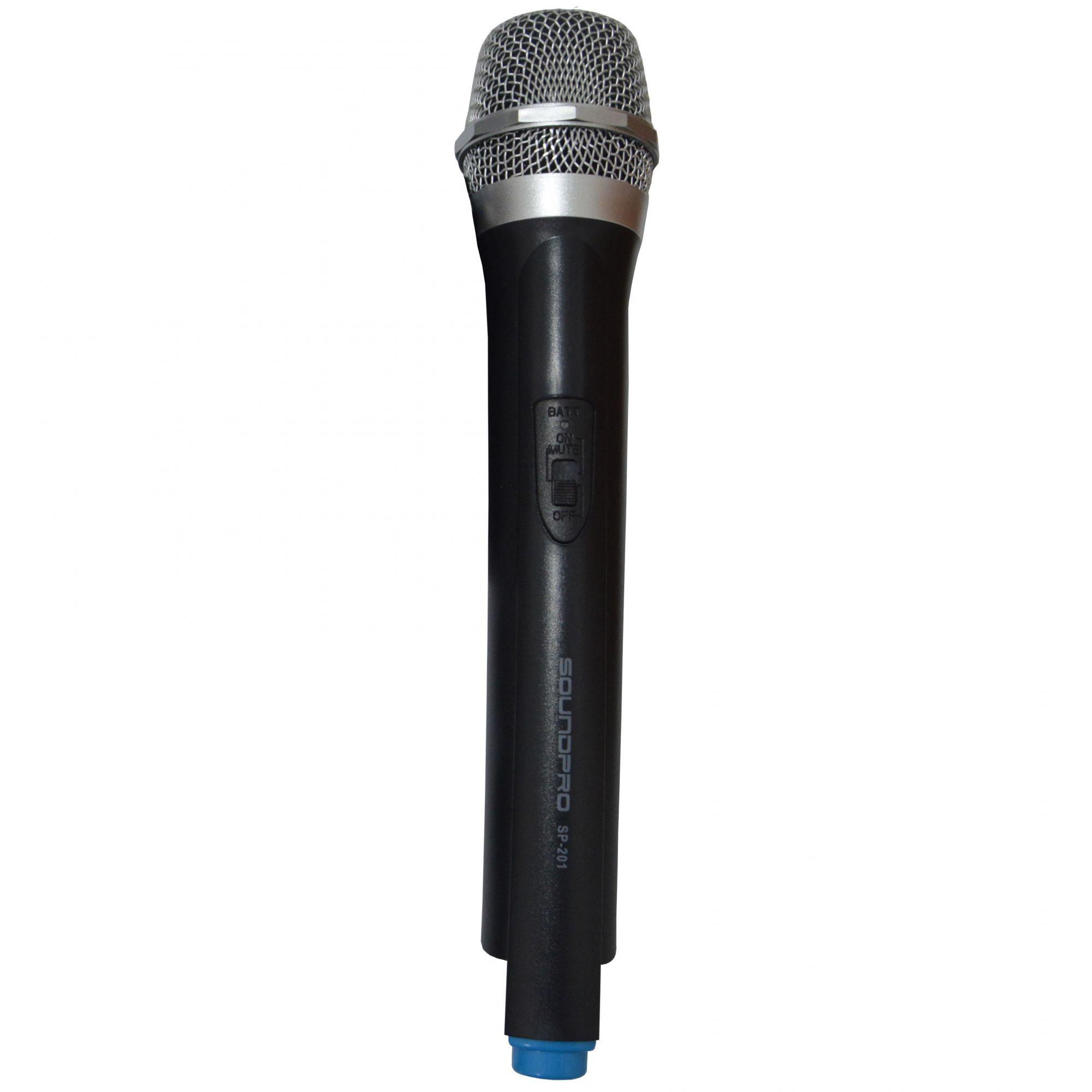 Microfone Profissional sem fio Soundpro SP201 VHF