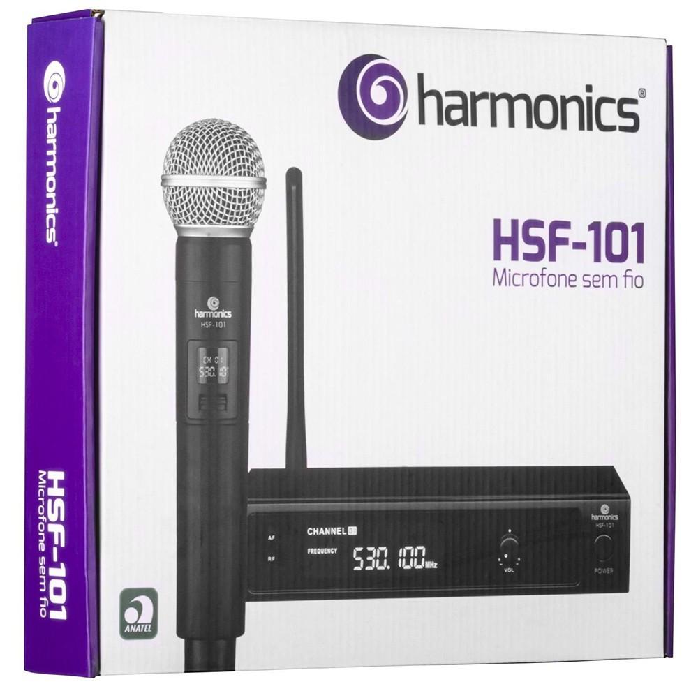 Microfone sem Fio de Mão UHF HSF-101 HARMONICS