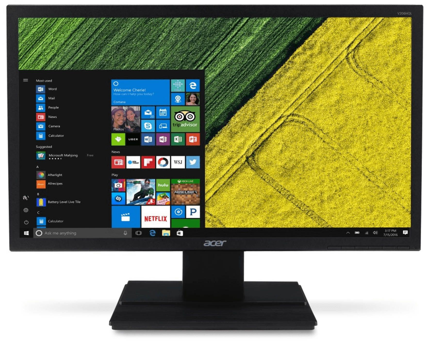 "Monitor LED 19.5"" Acer V206HQL HD VGA - Preto"