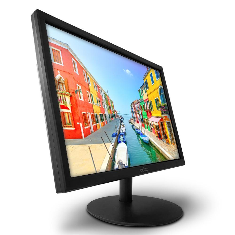 "Monitor para PC PCTop Slim MLP190HDMI 19"" LED - IPS Widescreen HD HDMI VGA Ajustável"