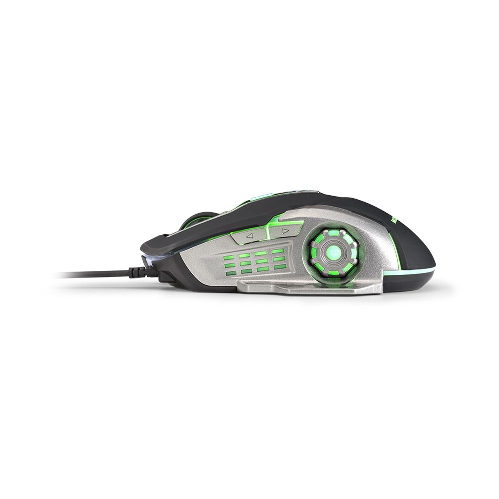 Mouse Gamer Multilaser 2400 Dpi Preto E Grafite Com Led - Mo269