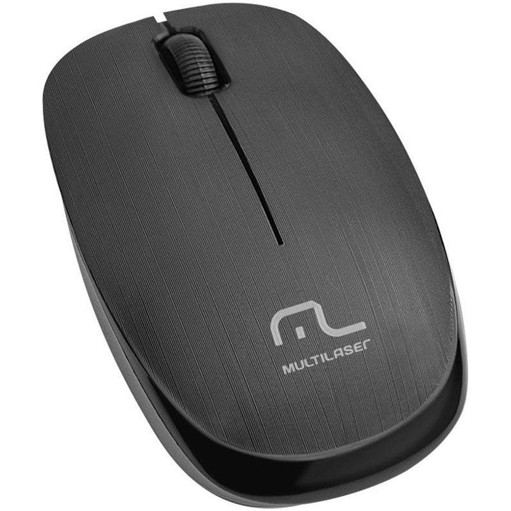 Mouse Sem Fio Multilaser 1200DPI 2.4Ghz Preto - MO251