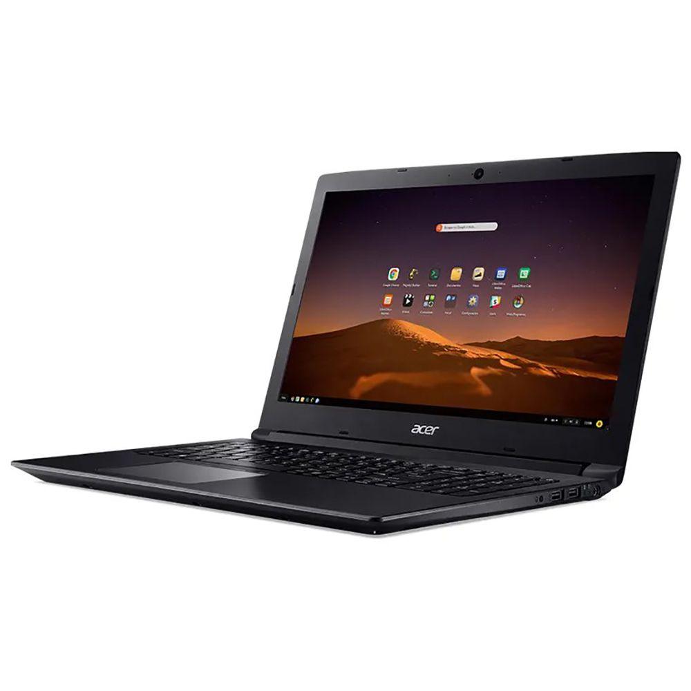 Notebook Acer A315-53-3470, i3-6°Geração, 4GB, HD 1TB, Tela 15.6''  (Linux) - Preto