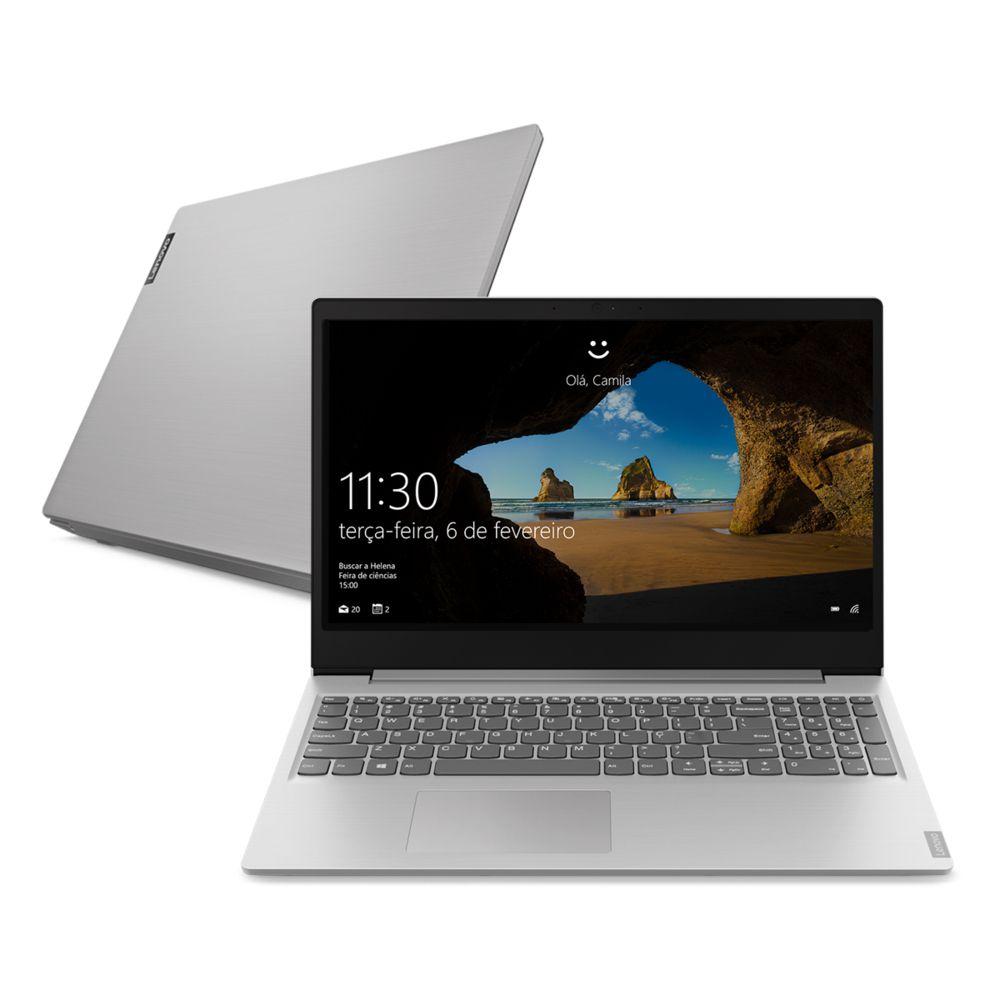 "Notebook Lenovo Ideapad S145 Intel Celeron 4GB 500GB 15,6"" - Prata"