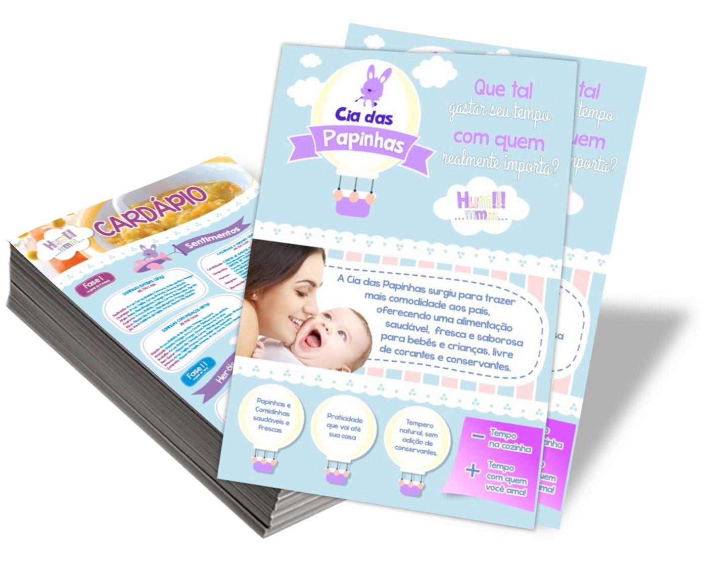 Panfletos/Folhetos 1000 Unid. couchê 90g Frente e Verso 150X210mm