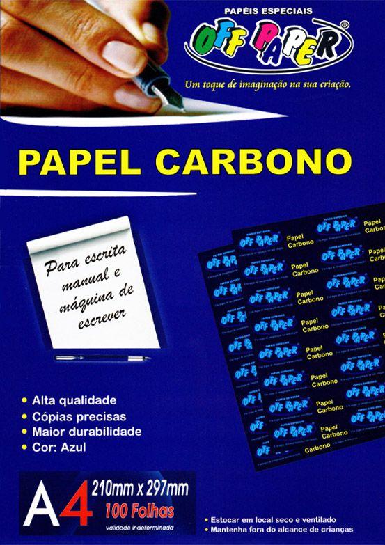 Papel Filme Carbono A4 100 Folhas Off Paper