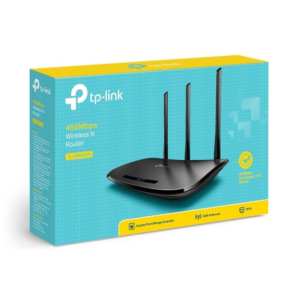 Roteador Wireless TP-Link TL-WR940N 450Mbps 5 Portas 3 Antenas