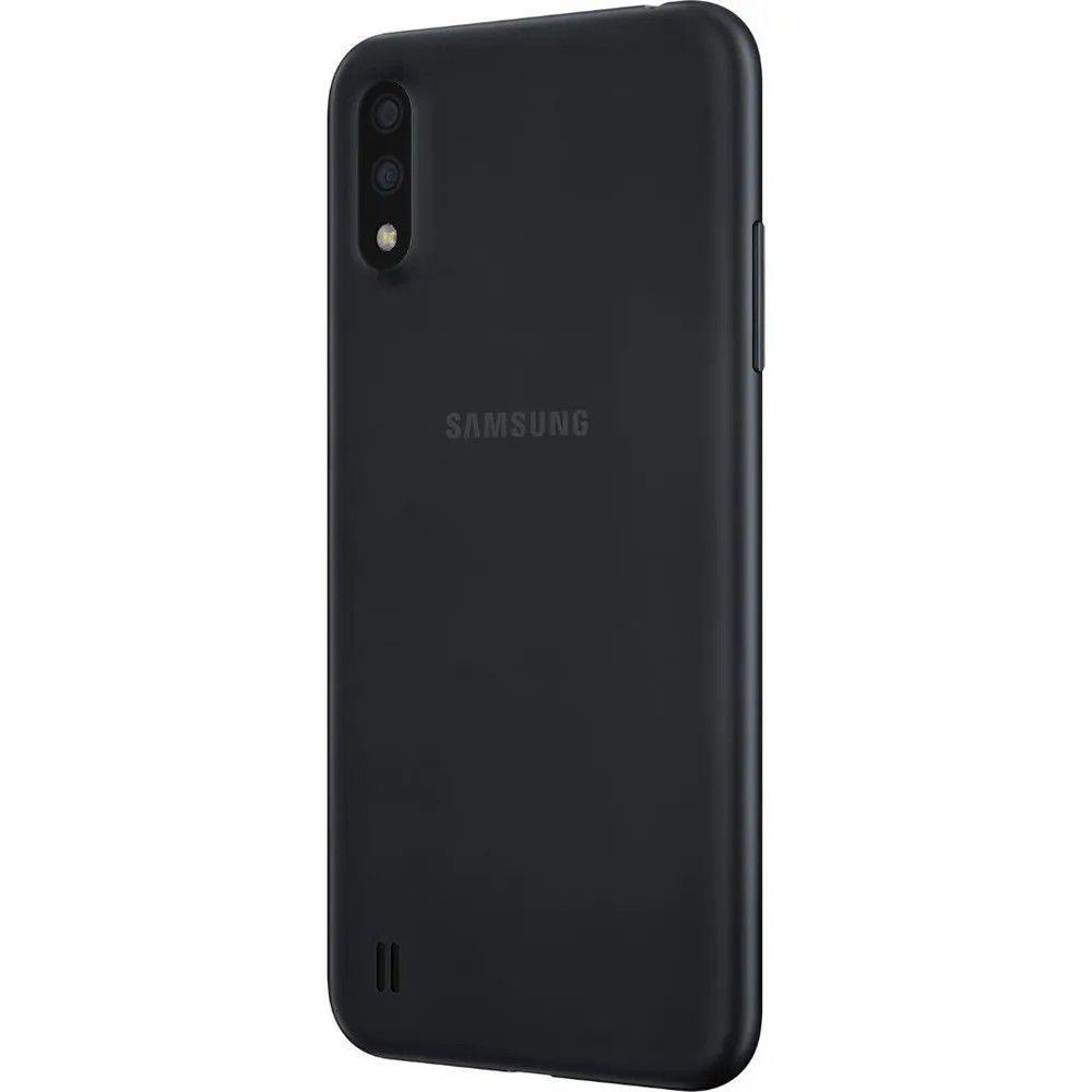"Smartphone Samsung Galaxy A01 Desbloqueado 32GB 4G Android 10.0 Tela 5.7"" Octa-Core Câmera 13MP - Preto"