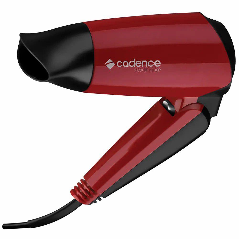 Secador de Cabelos Cadence Beauté Rouge, 2 Velocidades, Vermelho - SEC159 - Bivolt