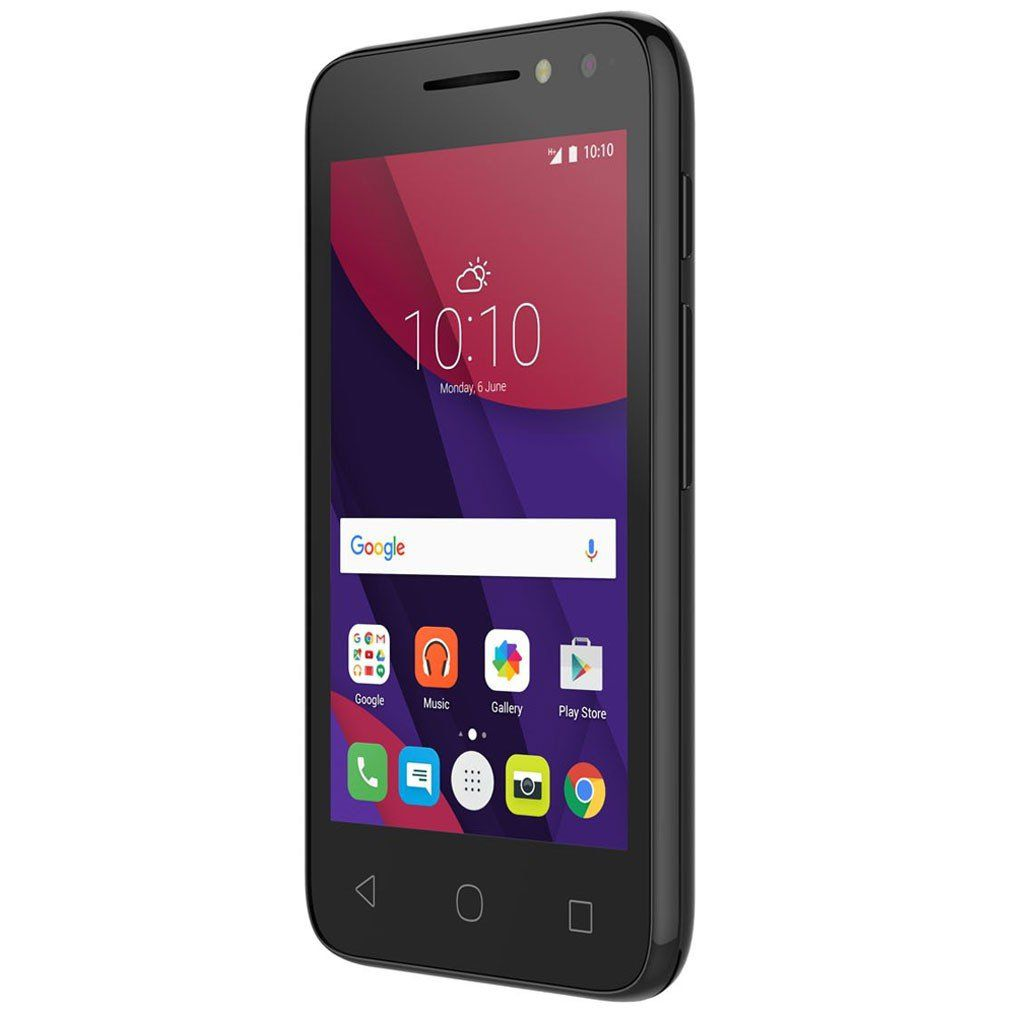 Smartphone Alcatel 4034E Light Pixi 4, Dual chip, 8MP, 4``, 8GB expansível até 32GB, 3G - Preto