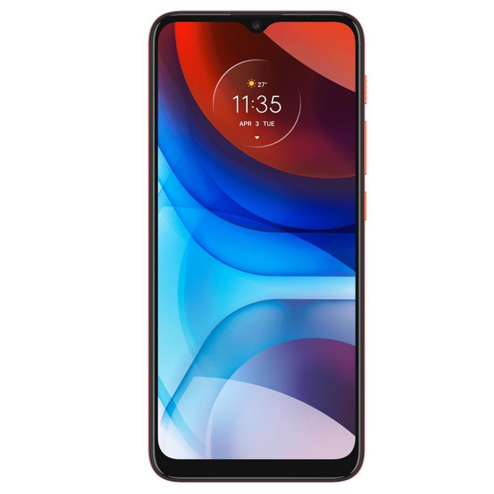 Smartphone Motorola Moto E7 Power 4G 32GB Vermelho Coral Tela 6.5 Câmera Dupla 13MP Selfie 5MP Android 10