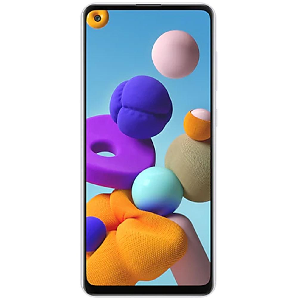 "Smartphone Samsung Galaxy A21s Dual Chip Android 10 Tela 6.5"" Octa-Core 64GB 4G Câmera Quádrupla 48MP+8MP+2MP+2MP - Branco"