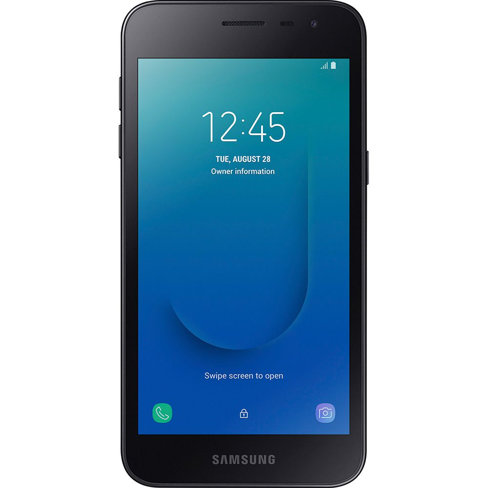"Smartphone Samsung Galaxy J2 Core 16GB Dual Chip Android 8.1 Tela 5"" Quad-Core 1.4GHz 4G Câmera 8MP - Preto"