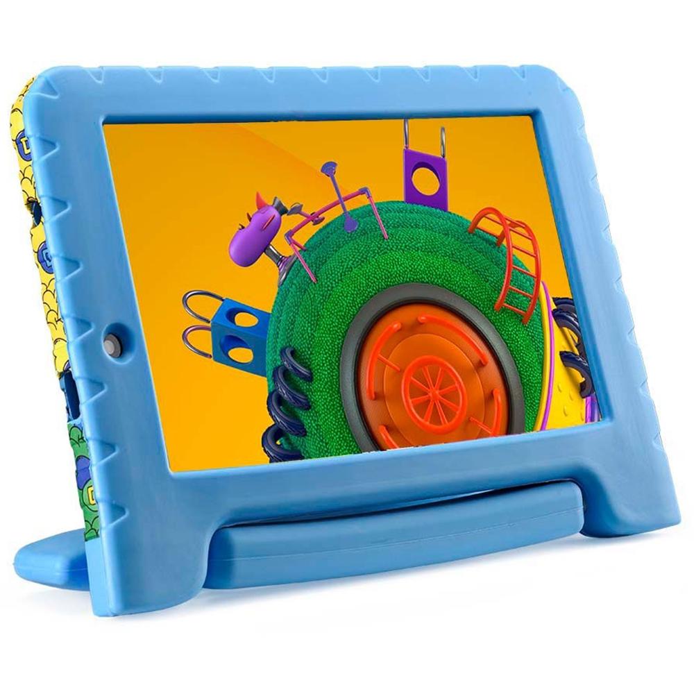 Tablet Infantil NB309 Discovery Kids Multilaser Memória 16GB 7 Pol Wi-Fi Android 8 Quad Core Câmera 1GB Ram