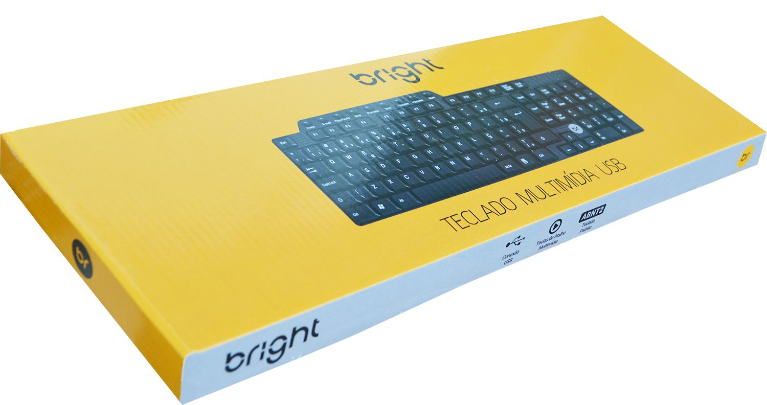 Teclado Multimídia USB Bright USB - Preto