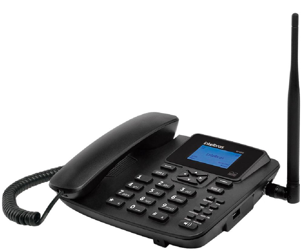 Telefone Celular Fixo Intelbras Cf4202 GSM - Preto