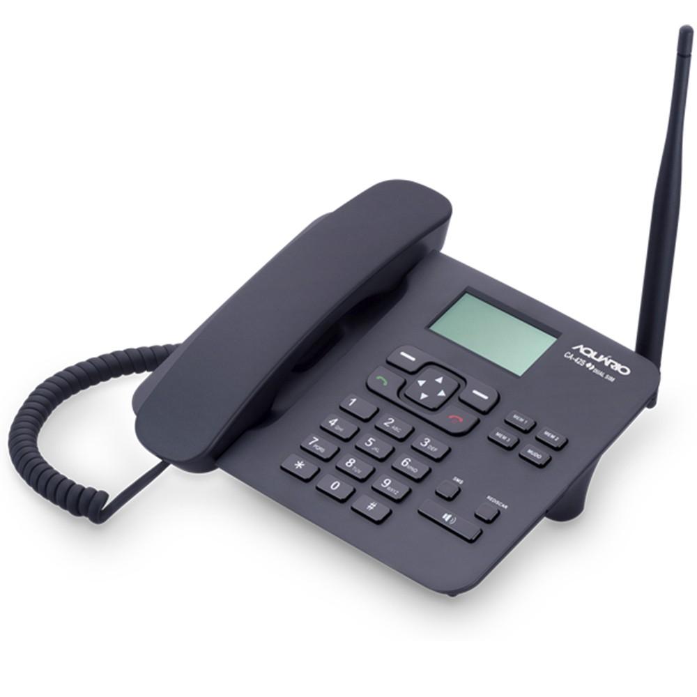Telefone Celular Rural de Mesa Quadriband Dual SIM CA-42S - Aquário