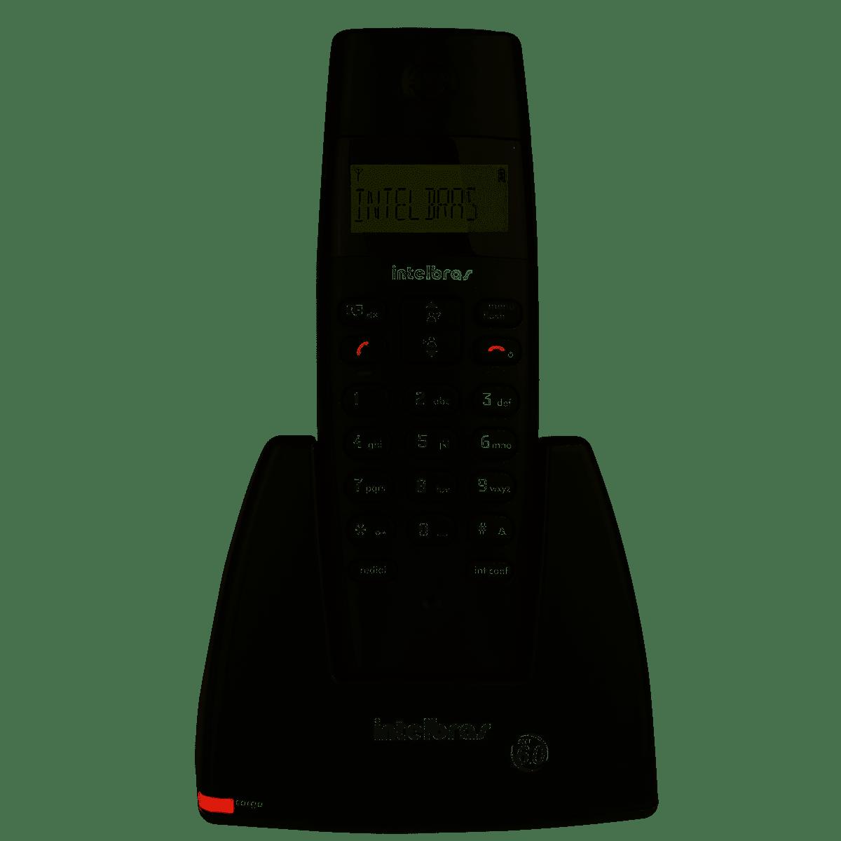 Telefone Sem Fio Digital Intelbras TS40 Identificador de Chamadas