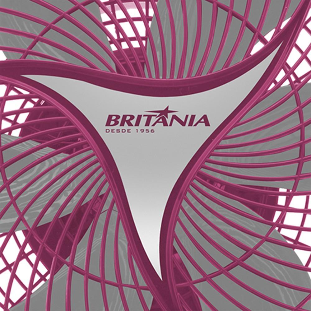 Ventilador de Mesa Britânia Protect, 30 cm, Rosa