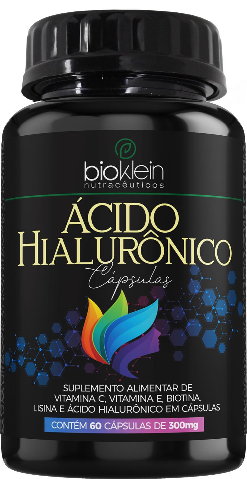 Ácido Hialurônico 150mg 60 Cáps c/ Vit C E Bioklein