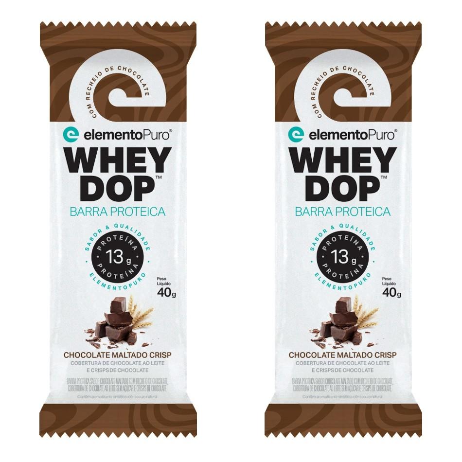 Barra de proteína (2und) Wheydop Bar 40g - Elemento Puro - Chocolate Maltado