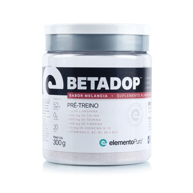 Betadop Pré Treino Zero Cafeína 300g Elemento Puro - Melancia