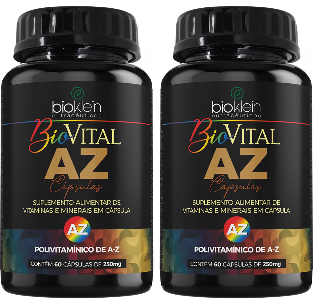 Bio Vital AZ Multivitamínico 120 (2x60) Cápsulas Bioklein