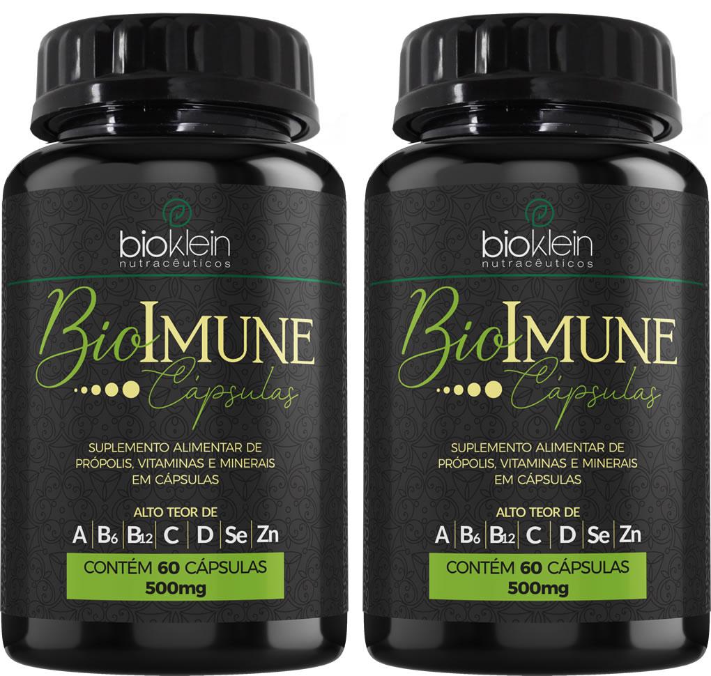 BioImune + Imunidade C/ Própolis 120 Cáps (2x60) Bioklein
