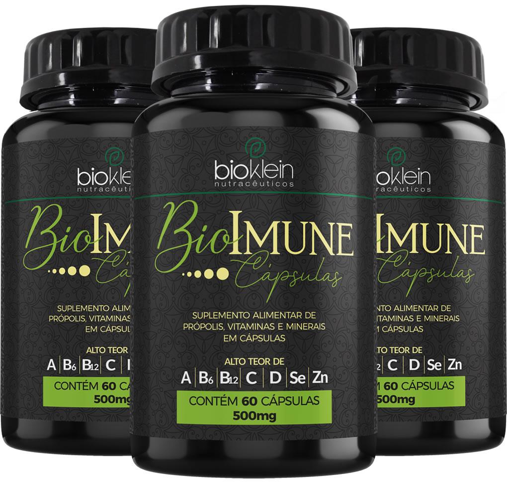 BioImune + Imunidade C/ Própolis 180 Cáps (3x60) Bioklein
