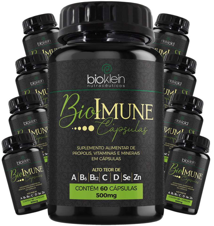 BioImune + Imunidade C/ Própolis 540 Cáps (9x60) Bioklein