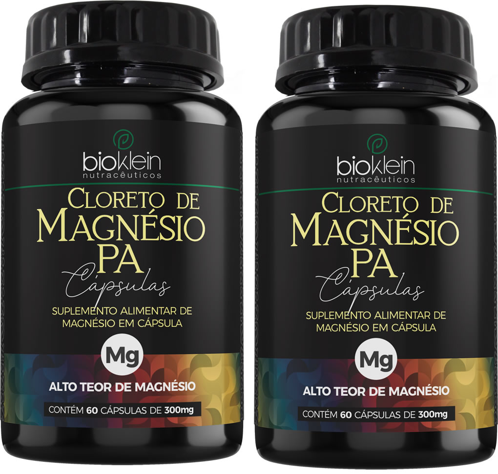 Cloreto de Magnésio PA 350mg 120 Cápsulas (2x60) Bioklein