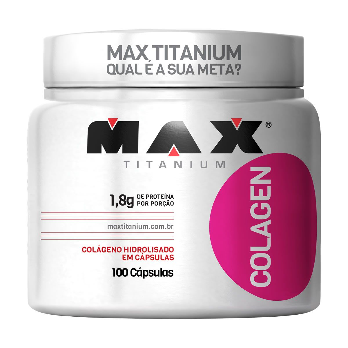 Colagen 100 Cápsulas Colágeno Max Titanium