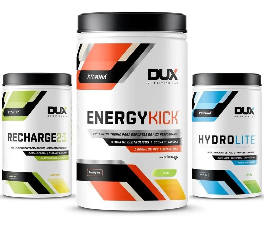 Combo Energy Kick + Hydrolite + Recharge 2:1 - Dux Nutrition