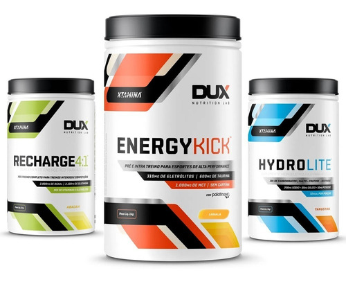 Combo Energy Kick + Hydrolite + Recharge 4:1 - Dux Nutrition