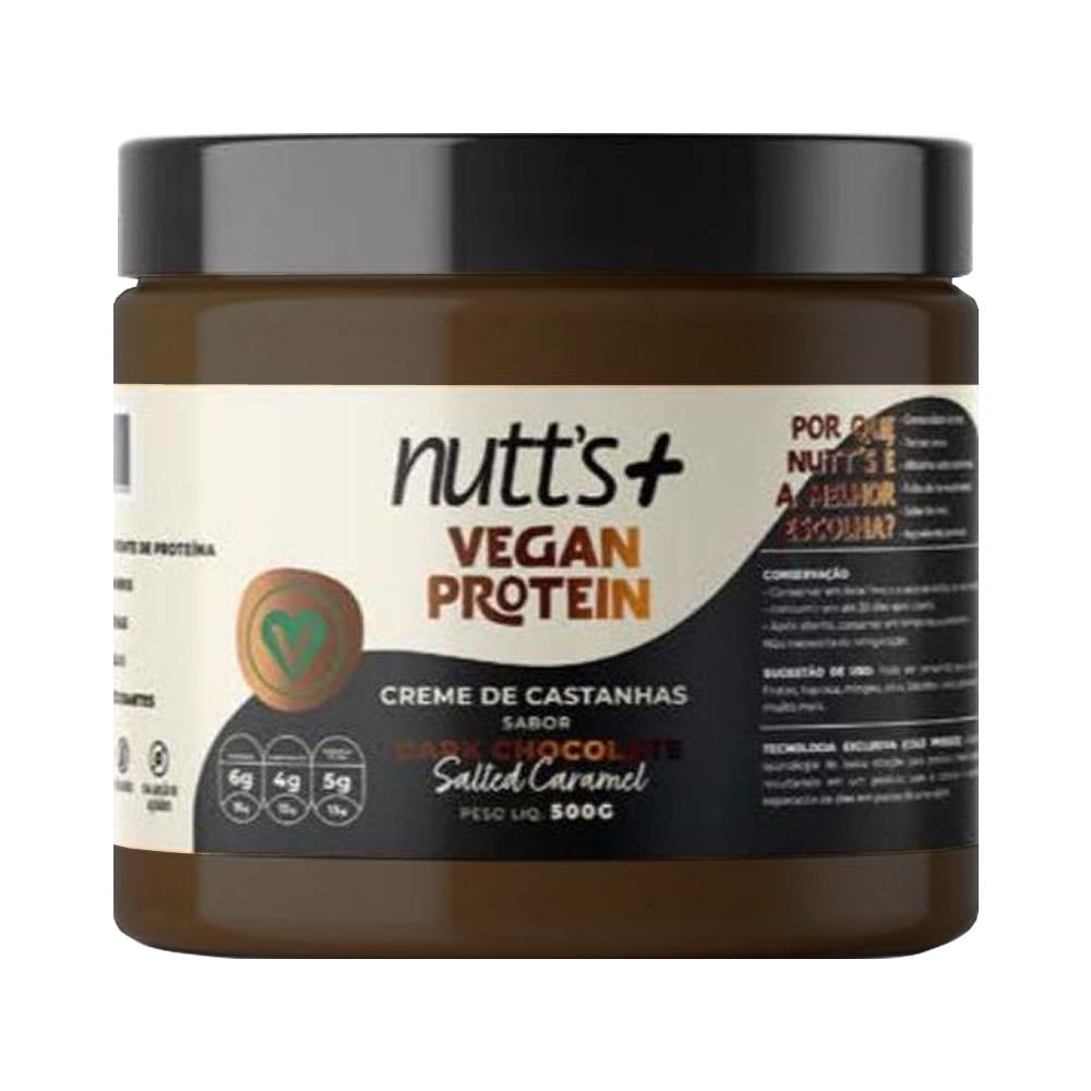 Creme de Castanhas Proteico Vegano (500g) Dark Chocolate Nutts+