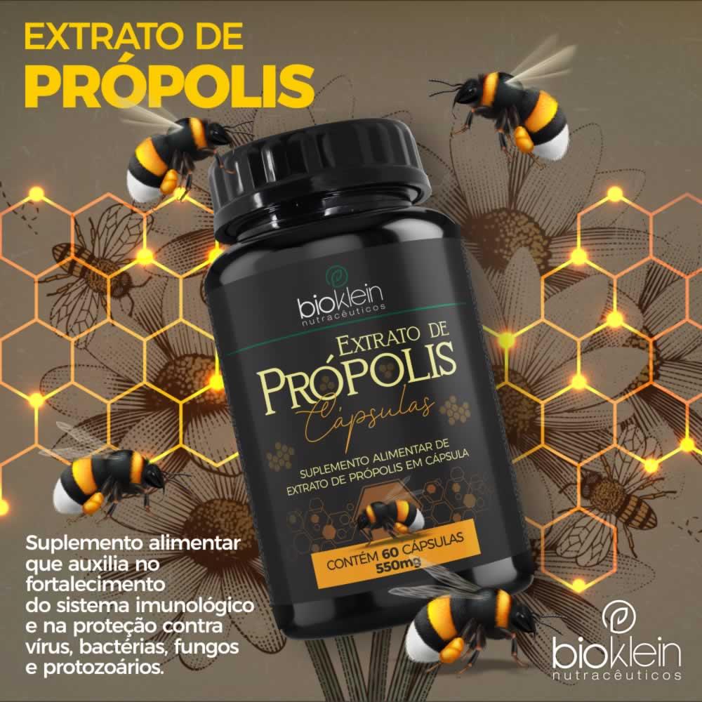 Extrato De Própolis e Vitamina C com Zinco 120 Cápsulas 2x60 Bioklein