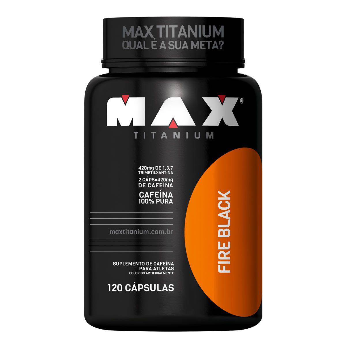 Termogênico Fire Black (120 Cáps) Max Titanium
